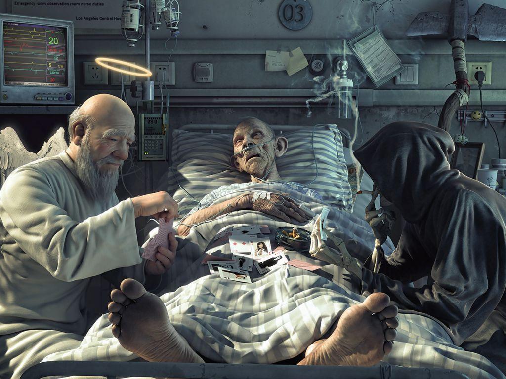 смерть на карты и в бог играют обои