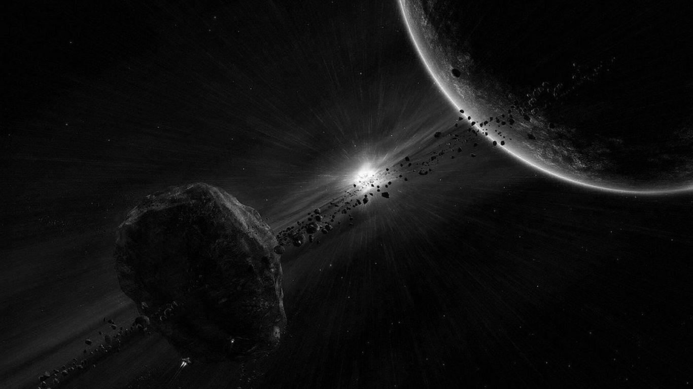 чёрно белые картинки космос